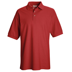 UNFSK72RD-SS-L - Red KapMens Cotton/Polyester Blend Pique Knit Shirt