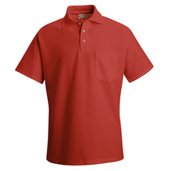 UNFSK82RD-SS-XL - Red KapMens Cotton/Polyester Blend Pique Knit Shirt