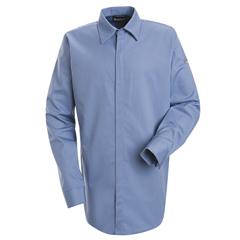 UNFSLS2LB-LN-M - BulwarkMens EXCEL FR® ComforTouch® Concealed-Gripper Pocketless Shirt - 7 oz.