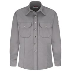 UNFSLU3KH-RG-M - BulwarkWomens Uniform EXCEL FR® ComforTouch® Dress Shirt - 7 oz.