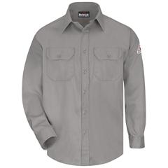 UNFSLU8GY-RG-L - BulwarkUnisex EXCEL FR® ComforTouch® Uniform Shirt - 6 oz.