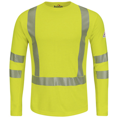 UNFSMK2HV-RG-3XL - BulwarkMens Power Dry® FR Hi-Vis Flame-Resistant T-Shirt