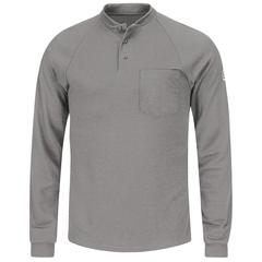 UNFSML2GY-RG-XXL - BulwarkMens CoolTouch®2 Henley Shirt