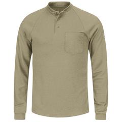 UNFSML2KH-RG-3XL - BulwarkMens CoolTouch®2 Henley Shirt