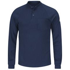 UNFSML2NV-RG-M - BulwarkMens CoolTouch®2 Henley Shirt