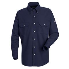 UNFSMU2NV-RG-S - BulwarkMens CoolTouch® 2 Uniform Dress Shirt - 7 oz.