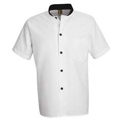 UNFSP04WH-SS-XL - Chef DesignsMens Black Trim Cook Shirt