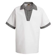 UNFSP06WH-SS-S - Chef DesignsMens Snappy V-Neck Chef Shirt