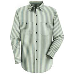 UNFSP10GK-LN-XL - Red KapMens Industrial Stripe Work Shirt