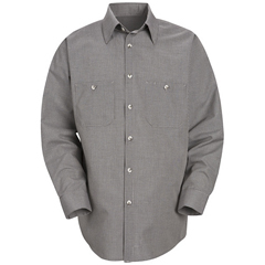 UNFSP10KB-RG-L - Red KapMens Micro-Check Uniform Shirt