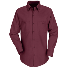 UNFSP14BY-LN-L - Red KapMens Industrial Work Shirt