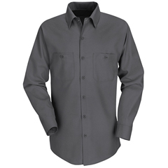 UNFSP14CH-RG-M - Red KapMens Industrial Work Shirt