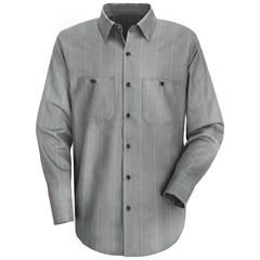 UNFSP14CR-LN-L - Red KapMens Industrial Stripe Work Shirt