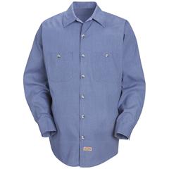 UNFSP14DN-RG-3XL - Red KapMens Geometric Micro-Check Work Shirt