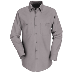 UNFSP14GY-RG-M - Red KapMens Industrial Work Shirt