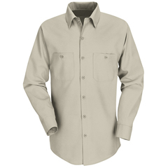 UNFSP14LT-RG-M - Red KapMens Industrial Work Shirt