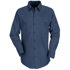 UNFSP14NV-RG-L - Red KapMens Industrial Work Shirt