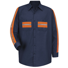 UNFSP14ON-RG-XL - Red KapMens Enhanced Visibility Shirt