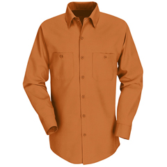 UNFSP14OR-LN-XXL - Red KapMens Industrial Work Shirt