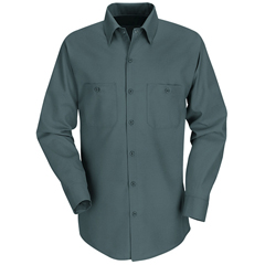UNFSP14SG-LN-M - Red KapMens Industrial Work Shirt