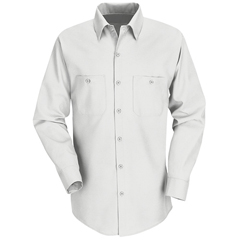 UNFSP14WH-RG-M - Red KapMens Industrial Work Shirt