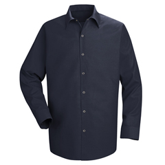 UNFSP16NV-LN-L - Red KapMens Specialized Pocketless Work Shirt