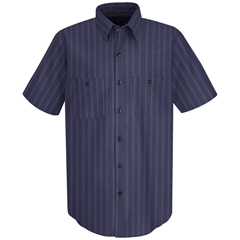 UNFSP20IC-SS-3XL - Red KapMens Industrial Stripe Work Shirt