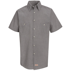 UNFSP20KB-SS-M - Red KapMens Micro-Check Uniform Shirt