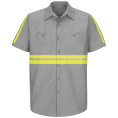 UNFSP24EG-SS-3XL - Red KapMens Enhanced Visibility Industrial Work Shirt