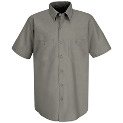 UNFSP24GY-SSL-L - Red KapMens Industrial Work Shirt