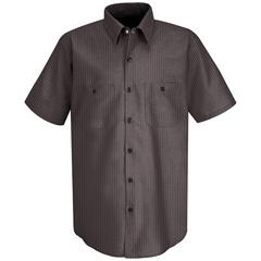 UNFSP24RC-SS-L - Red KapMens Durastripe® Work Shirt