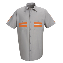 UNFSP24WM-SS-L - Red KapMens Enhanced Visibility Shirt