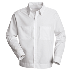UNFSP35WH-LN-L - Red KapMens Button-Front Shirt Jacket