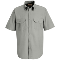 UNFSP60LA-SS-S - Red KapMens Solid Uniform Dress Shirt