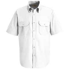 UNFSP60WH-SS-S - Red KapMens Solid Uniform Dress Shirt