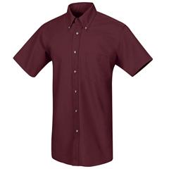 UNFSP80BY-SSL-L - Red KapMens Poplin Dress Shirt