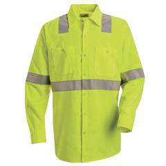 UNFSS14HV-RG-XXL - Red KapMens Hi-Vis Work Shirt - Class 2 Level 2