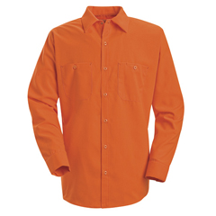 UNFSS14OR-RG-M - Red KapMens Enhanced Visibility Work Shirt