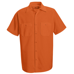 UNFSS24OR-SSL-XXL - Red KapMens Enhanced Visibility Work Shirt
