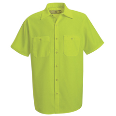 UNFSS24YE-SS-M - Red KapMens Enhanced Visibility Work Shirt