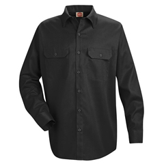 UNFST52BK-RG-L - Red KapMens Utility Uniform Shirt