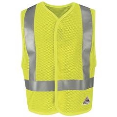 UNFVMV8HV-RG-5XL - BulwarkMens Hi-Vis Flame-Resistant Mesh Safety Vest