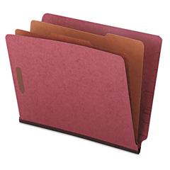 UNV10315 - Universal® Red Pressboard End Tab Classification Folders