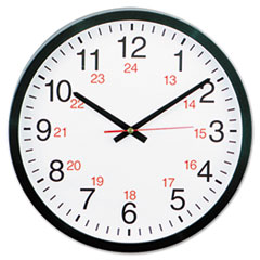 UNV10441 - Universal® 24-Hour Round Wall Clock