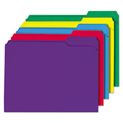 UNV16166 - Universal® Heavyweight Colored File Folders With Top Tabs