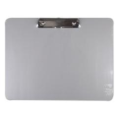 UNV40302 - Universal® Plastic Brushed Aluminum Clipboard