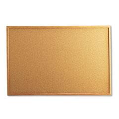 UNV43603 - Universal® Cork Bulletin Board with Oak Frame
