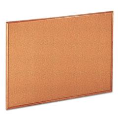 UNV43604 - Universal® Cork Bulletin Board with Oak Frame