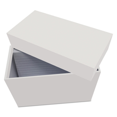 UNV47281 - Universal® Index Card Box with Ruled Index Cards