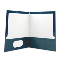 UNV56418 - Laminated Two-Pocket Folder